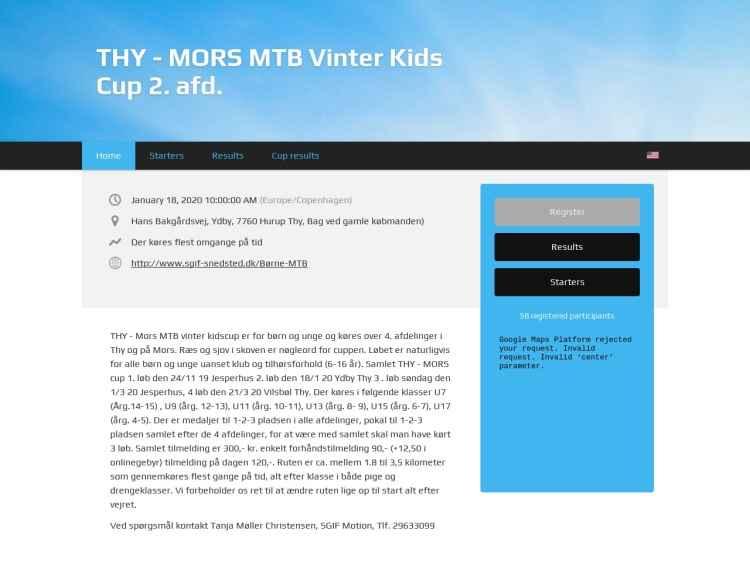 2 afd. THY - MORS MTB Vinter Kids Cup - MTB løb
