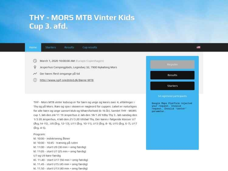 3. afd. THY - MORS MTB Vinter Kids Cup - MTB