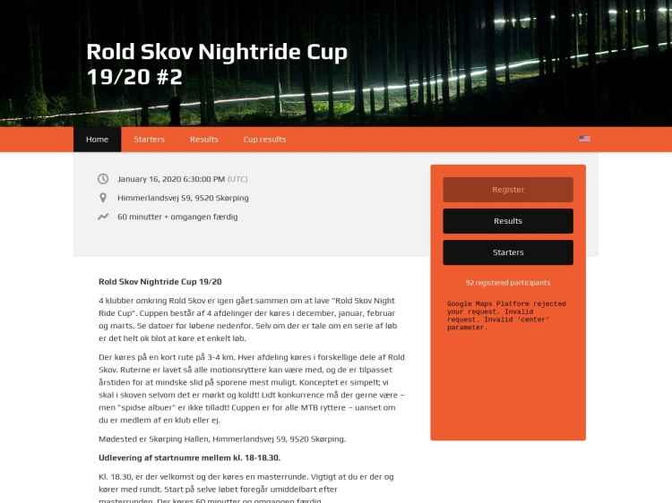 2. afdeling Rold Skov Night Ride Cup - Night Ride