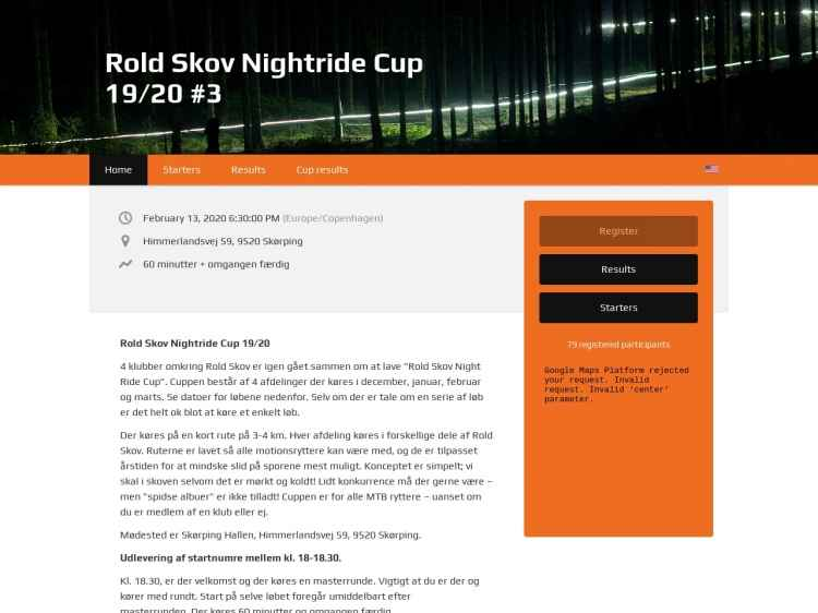 3. afdeling Rold Skov Night Ride Cup - Night Ride