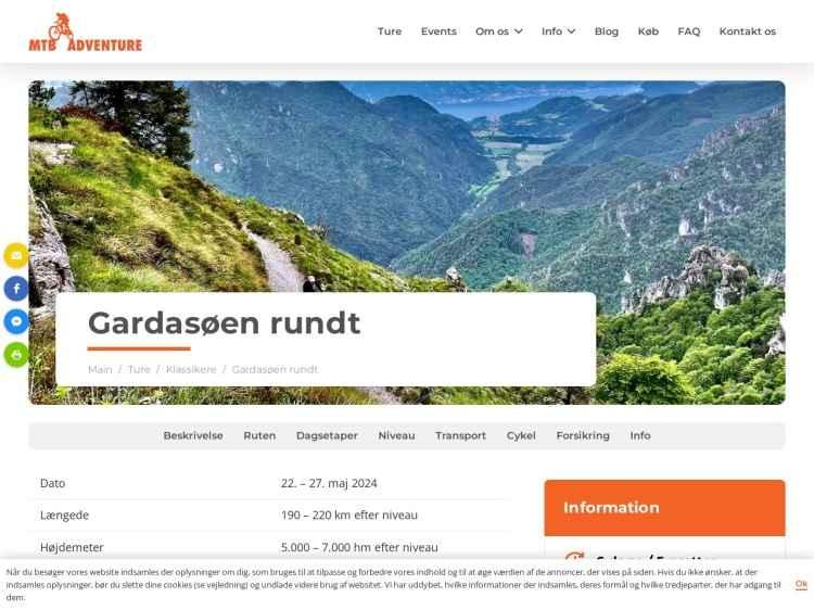MTB-Ferie Gardasøen - 4 dage rundt