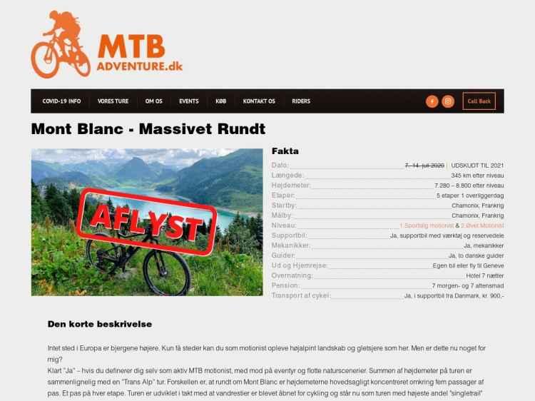 Mont Blanc - Massivet rundt - MTB Ferie