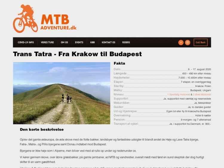 Trans Tatra - fra Krakow til Budapest - MTB Ferie