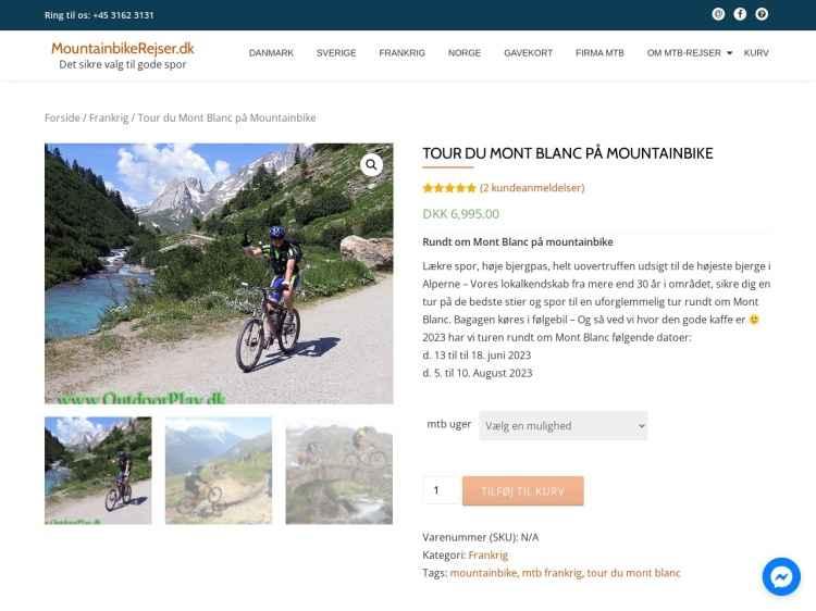 Tour de Mont Blanc på mtb - Ferie