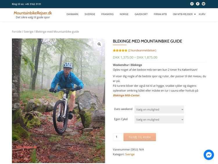 Blekinge Mountainbike - Ferie