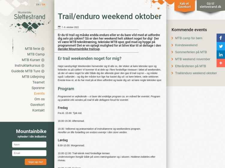 Mountainbike trail/enduro weekend - Enduro