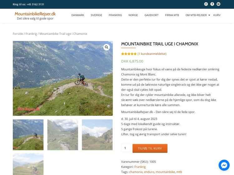 Trail/Enduro Uge Chamonix Mont Blanc - Ferie