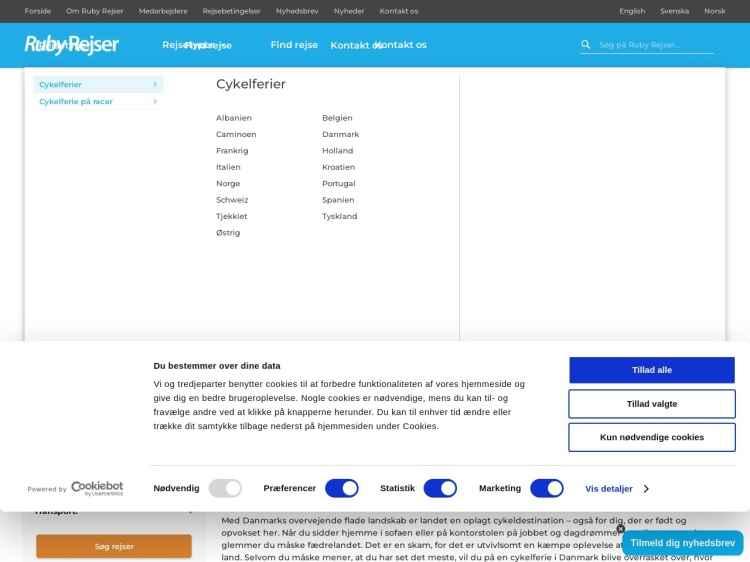 5 dages Gravel ferie på Sjælland - Ferie