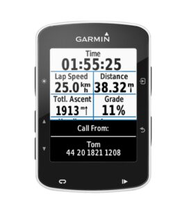 Garmin Edge 520 smart notifications