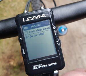 Smart besked på Lezyne super GPS