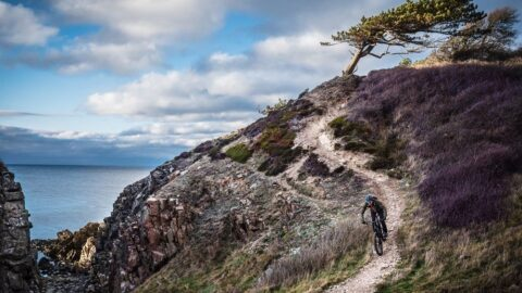 Mountainbike på Kullen (Sverige)